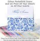 50 Personalised Pocketfold Invitations 16 Colours  - Rose/Script Wedding DIY