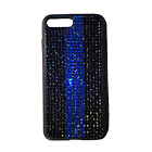 Bling Thin Blue Line iPhone case made with Swarovski Crystals