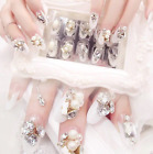 BRIDELuxury 3D Diamond false Nails arts to enhance your beauty UK 24pcs/set+Glue