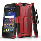 FOR [ZTE ZFIVE C LTE] PHONE CASE [REFINED SERIES] SHOCKPROOF COVER & HOLSTER
