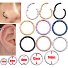Hot Surgical Steel Hinge Segment Nose Septum Clicker Ear Helix Tragus Hoop Ring