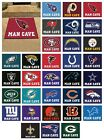 "NFL - Man Cave All-Star Mat Football Team Logo 33.75"" x 42.5"" $46.99 USD on eBay"