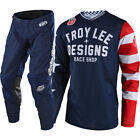 NEW 2018 TROY LEE DESIGNS GP AIR AMERICANA MOTOCROSS GEAR COMBO NAVY ALL SIZES