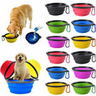 Foldable Silicone Pet Dog Bowl Travel Portable Feeding Drinking Food Container