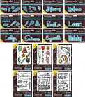 Sheena Douglass Word & Sentiment Dies & A6 Rubber Stamps Everyday NEW