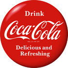 Drink Coca-Cola Delicious Red Disc Removable Wall Decal 1930s Style Button $56.99  on eBay