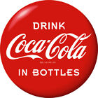 Drink Coca-Cola in Bottles Red Disc Removable Wall Decal 1930s Style Button