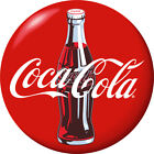 Coca-Cola Bottle Red Disc Removable Wall Decal Button Style