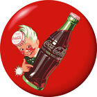 Sprite Boy Coca-Cola Disc Red Removable Wall Decal Button Style