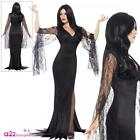 Ladies Immortal Soul Costume Adult Morticia Vampire Witch Halloween Fancy Dress