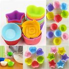 1/12 Cup Silicone Muffin Cupcake Baking Pan Kitchen Cake Mould Microwave Moulds