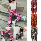 Summer Fashion Casual Womens Camo Trousers Pants Loose jeans Camouflage Jean