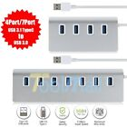 USB 3.1 TypeC to 4/7-port USB 3.0 Aluminum Hub Multi-Function For Macs PC Laptop