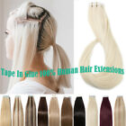 8a russian thick tape in remy real human hair extensions straight 60pcs 150g uk