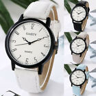 Women Casual Simple Stainless Steel Leather Band Strap Analog Quartz Wrist Watch image