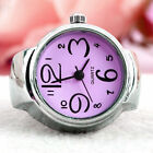 Creative Round Elastic Quartz Finger Ring With Watch For Women High Quality 1Pc
