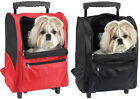 TAN DELUXE BACKPACK AIRLINE DOG CARRIER W/WHEELS - UP TO 18 LBS.