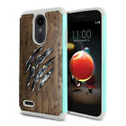 For LG Aristo 2/ 2 Plus/Tribute Dynasty Kitten Design Rugged Hybrid Case Cover