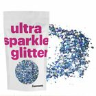Hemway Silver Blue Ice Holographic Glitter Chunky Mix Large Dance Festival