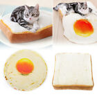 Pet Dog Cat Creative Toast Bread Egg Sleeping Mat Pad Puppy Bed Kennel Cushion