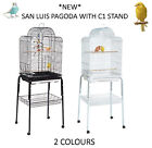 *NEW* RAINFOREST SAN LUIS PAGODA + C1 STAND BUDGIE CANARY FINCH CAGE WITH STAND