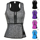US Women Waist Trainer Vest Gym Slimming Adjustable Sauna Sweat Belt Body Shaper