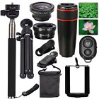 All in1 Phone Camera Lens 8/12X Telephoto Selfie Stick Tripod Kit Set For Mobile