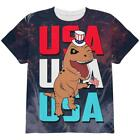 4th Of July USA Patriotic T-Rex All Over Youth T Shirt