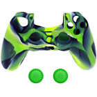 Silicone Controller Case Ps4 Cover Grip Joystick Camouflage Skin Rubber Caps