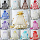 200 pcs 6x9 inch ORGANZA Fabric BAGS - Wedding FAVORS Drawstring Gift Pouch
