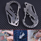 EDC Survival Multi Tool Stainless Steel Carabiner Screwdriver Keychain Outdoor