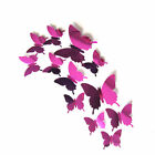 10/12pc Butterfly Mirror/LED Light Wall Stickers Living Room Decal Art Decor DIY