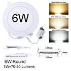 LED Ceiling Panel Light Flat Downlight Recessed with Dimmable Fixture Ultra-Slim