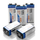 Lot of 600mAh 9V Li-ion Rechargeable Battery with USB 5-Slots DC Charger