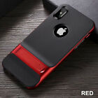 For iPhone X 6 7 8 Plus Skin Touch Skid PC+TPU With Stand Phone Case Cover US