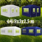 3x4/6/9m Party Tent Outdoor Awning Canopy Garden Portable Gazebo Marquee 2 Color