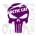 Arctic Cat Punisher Skull Dicut Vinyl Decal 3SIZE14COLOR wildcat snowmobile ZR