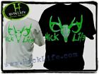 Hick Life Nation Official Deer Skull T-Shirt, Country, Redneck, Hunting, Mudding