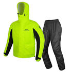 Motorcycle Rain Suit Raincoat Reflective Safety Travel Outdoor Water Resistant $48.99 USD on eBay
