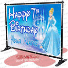 Cinderella Princess Birthday Foremost Personalized Party Backdrop Decorations -KID