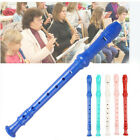 Soprano Recorder Long Flute 8 Holes Musical Instrument with Cleaning for Student