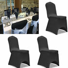 100 Spandex Chair Covers Lycra Arched Flat Front For Wedding Party Decorations