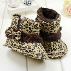 Fashion Warm Lovely Baby Girls Bowknot Leopard Snow Toddler Boots Shoes ECF2