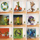 Animal Shower Curtains for Bathroom Waterproof Polyester Fab