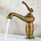 Classic Lavatory Single Hole Sink Mounting Mixer Faucet Chic Bathroom Vanity Tap