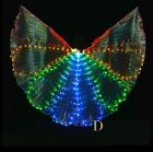 S003 LED Isis Wings 8 Petals Belly Dance Club Light Show Costume Egyptian Wings