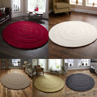 100% WOOL PILE SPIRAL CIRCULAR RUG HAND MADE IN INDIA ROUND RUG FROM THINK RUGS