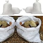 WHITE WOVEN HEAVY DUTY RUBBLE BAGS/SACKS Size : 50 x 75cm TOP & BOTTOM STITCHED