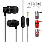 Metal Stereo Bass Headphone Earphone Sport Headset Hands Free Earbuds with Mic