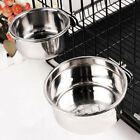Pet Hanging Bowl Stainless Steel Dog Cat Feeding Food Bird Water Dish Cage Bowl